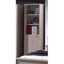 Bibliothèque Avec Une Porte Pour Chambre Enfant Coloris Pin Cottage - Bibliothèque avec porte