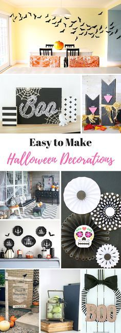 30+ Easy to Make Halloween Decorations - Scary halloween, Spooky - make halloween decoration