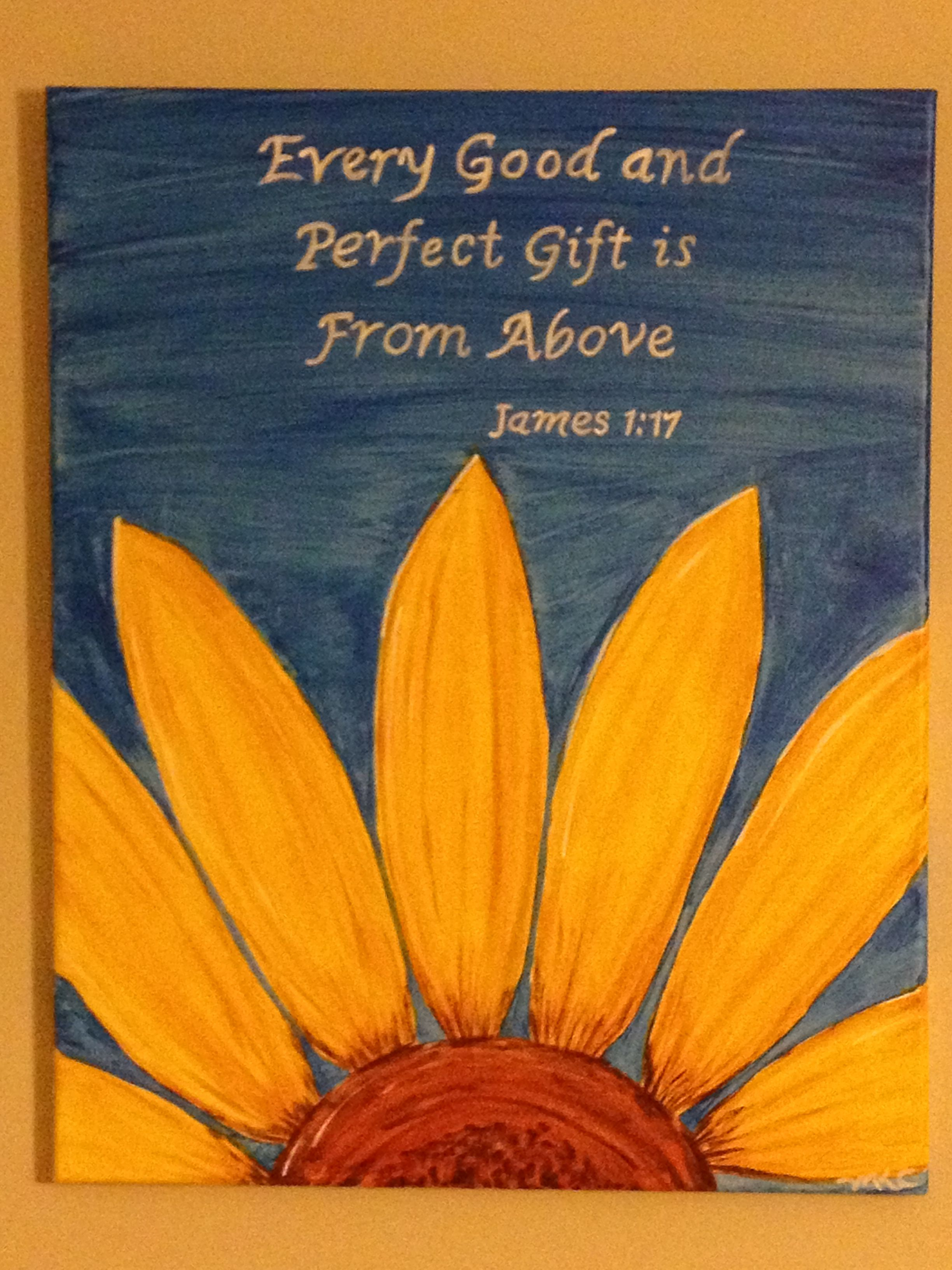 Scripture Sunflower Painting Sunflower Painting