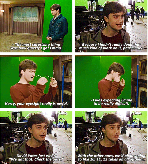 The Seven Potters Bts Harry Potter And The Deathly Hallows Part 1 Harry Potter Interviews Harry Potter Funny Harry Potter Actors