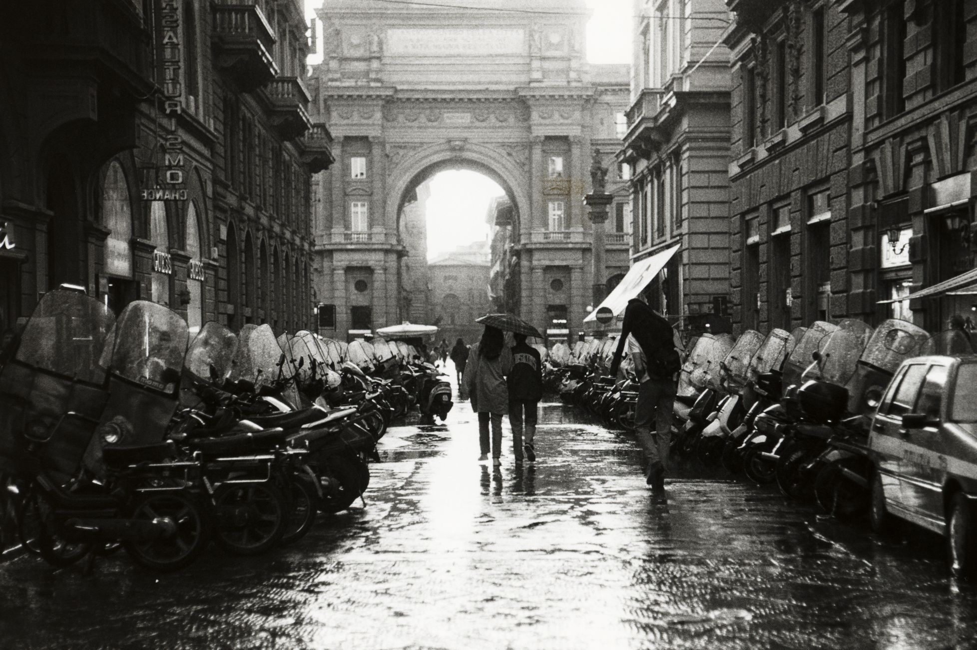 Romance of Firenze in the rain