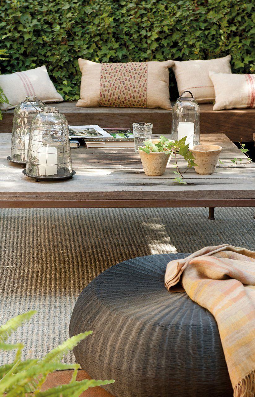 Un salón abierto al jardín  Idée déco extérieur, Terrasse design