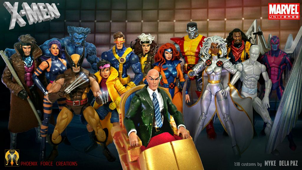 X Men Blue And Gold By Myke Dela Paz Marvel Legends Figures Marvel Figure Custom Action Figures