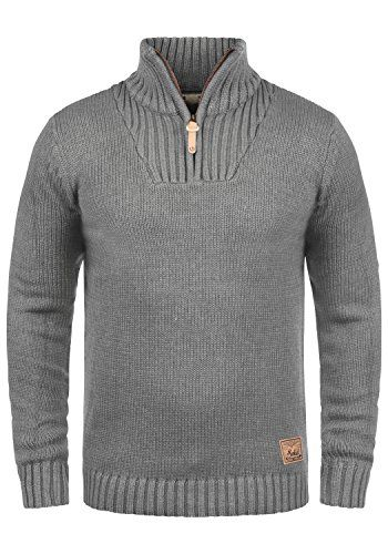 Solid Petro Pull En Grosse Maille À Col Camionneur Pull Over