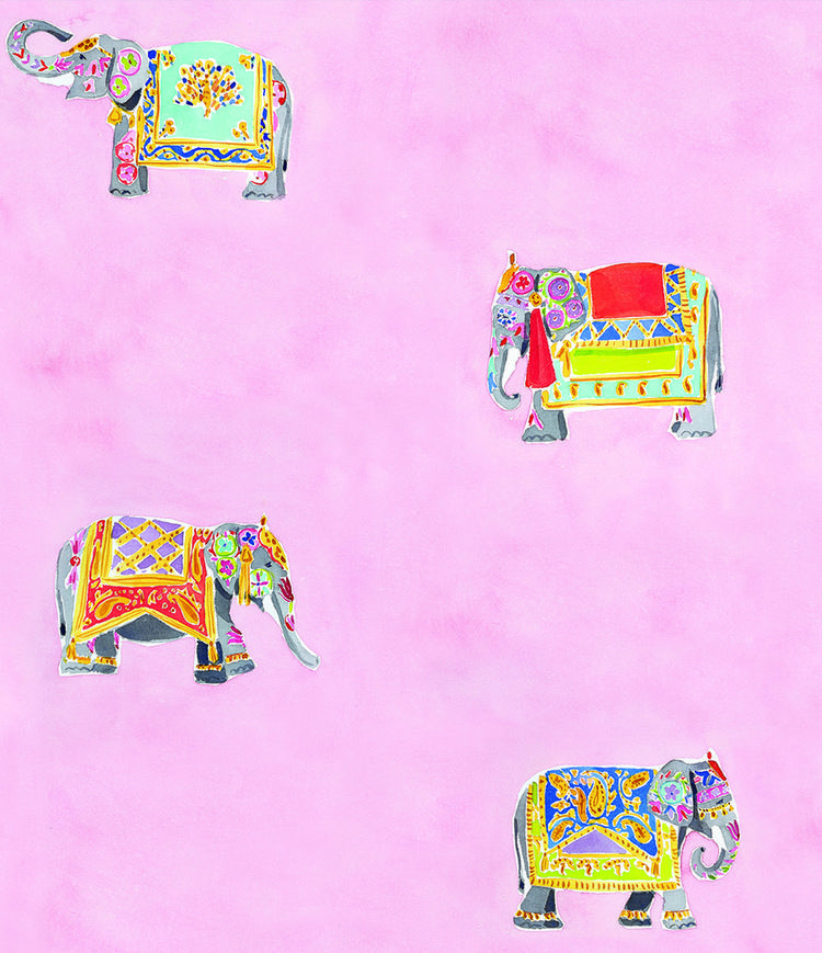 Elephants pink. Caitlin McGauley wallpaper | Caitlin McGauley ...