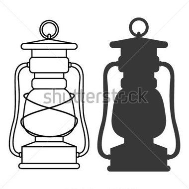Maintenance Silhouette Vector Lantern Illustration Silhouette Images