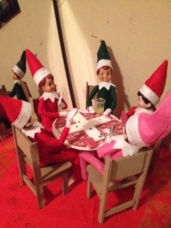 Dec 5 Cards And Marbles Game Christmas Elf The Elf Shelf Inspiration