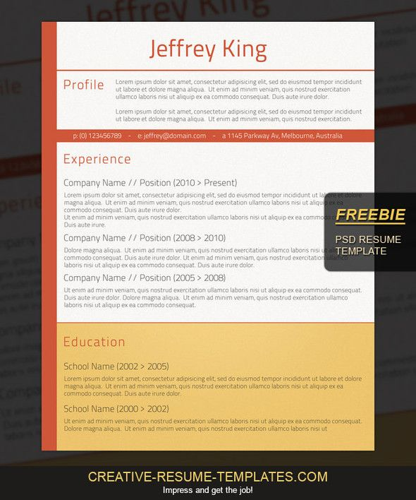 Pin by Fancy Resumes on Free Resume Templates Pinterest Free - creative free resume templates