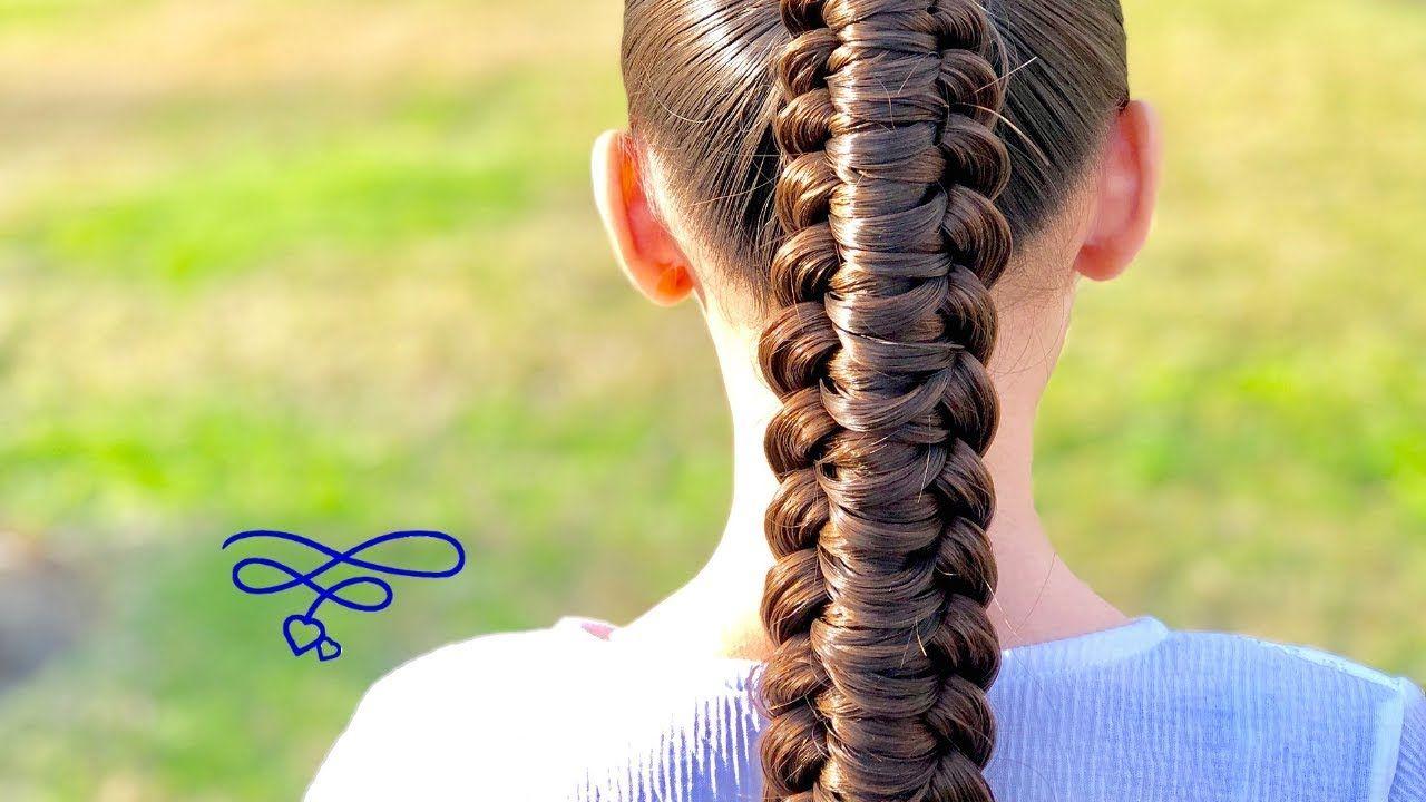 Knot  Loop Braided Ponytail | Braided Hairstyles