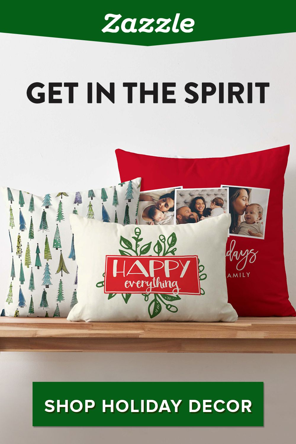 This year, support independent designers and find all your holiday needs on Zazzle. From ornaments to pillows, stockings to table runners, browse thousands of designs. Customize with text or photos.