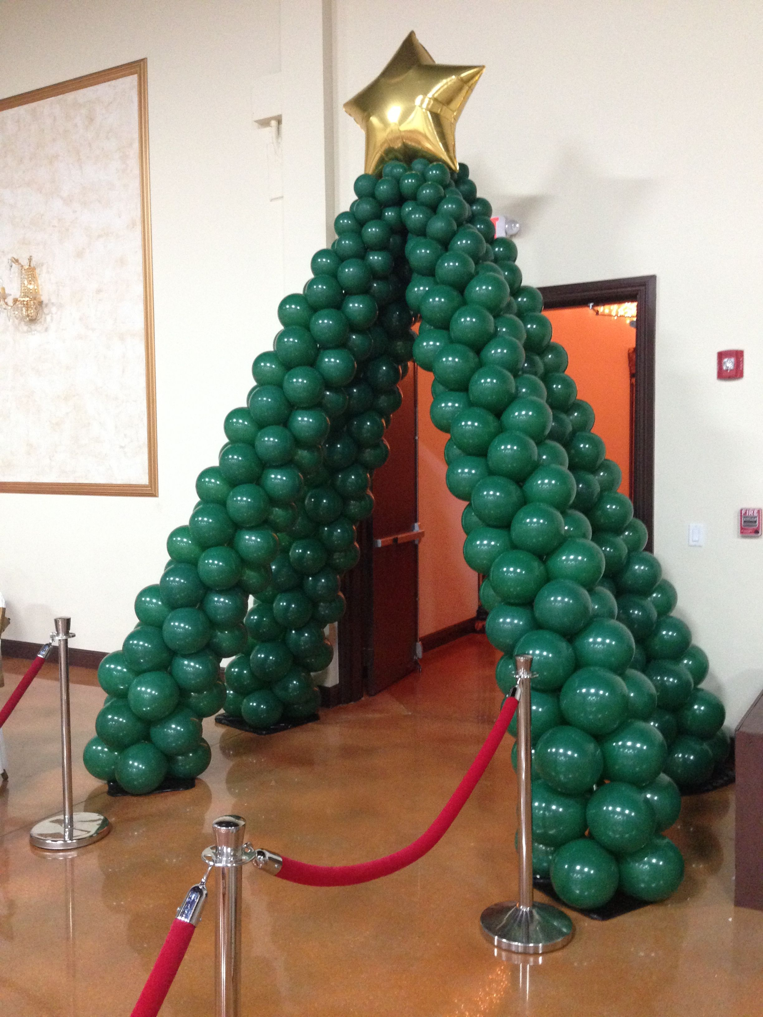 Holiday Christmas Tree Entrance Balloon Arches
