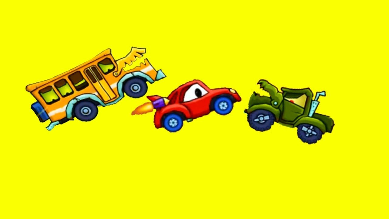 Monster Bus and Monster Truck VS Car Race | Racing Cars for Kids ...