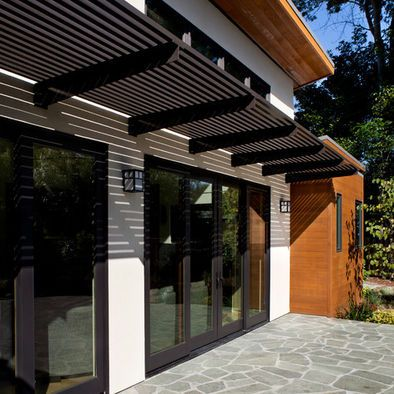 Modern Garage Pergola Design Ideas Pictures Remodel And Decor Modern Outdoor Patio Door Canopy Modern House Exterior
