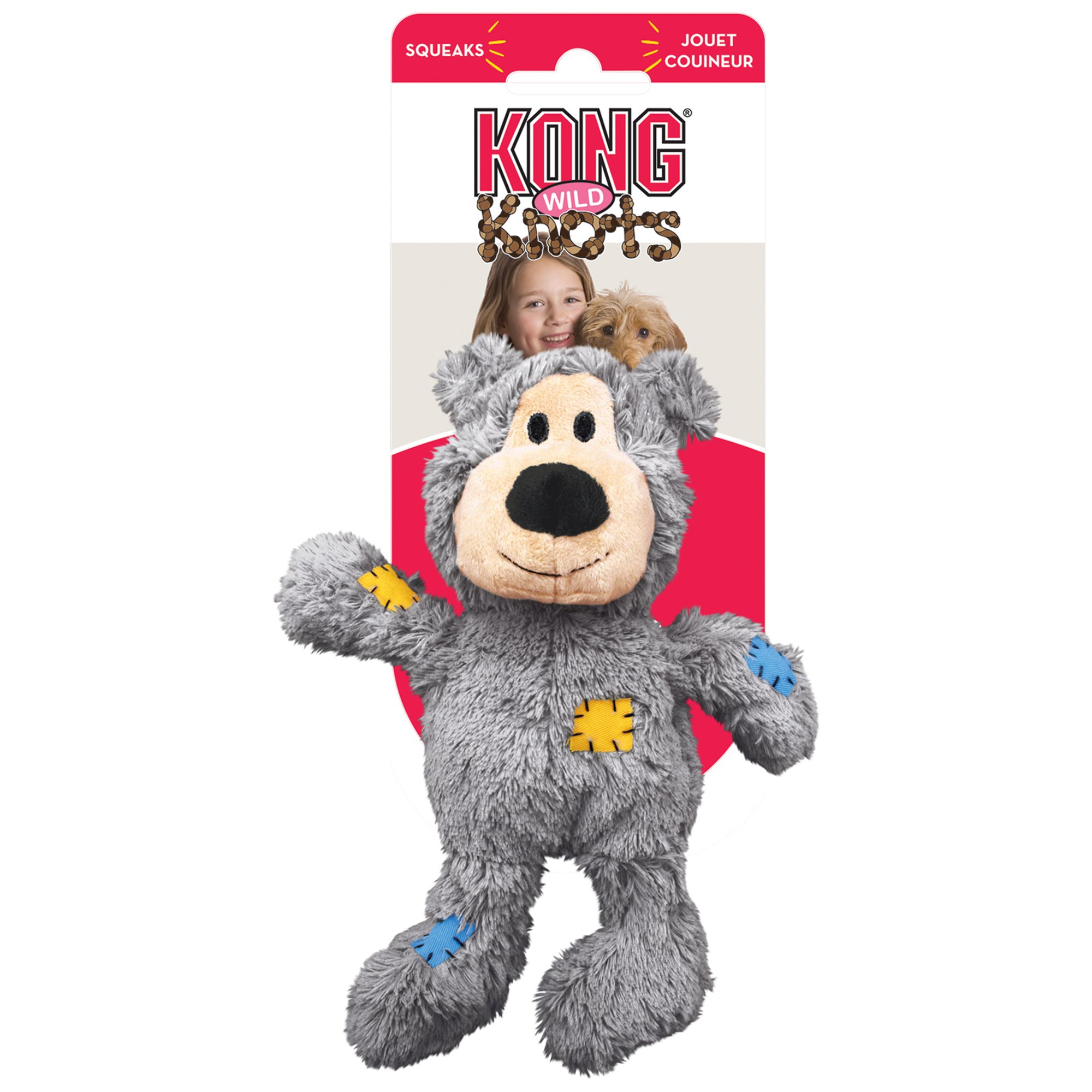 Kong Wild Knots Bear Dog Toy X Large Assorted Interactive Dog