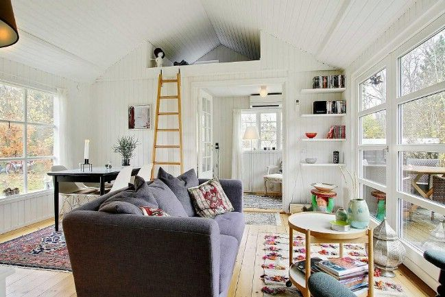463sf Tiny House With All White Interior For Sale In Denmark Tiny House Design Small House Bliss Small House Design