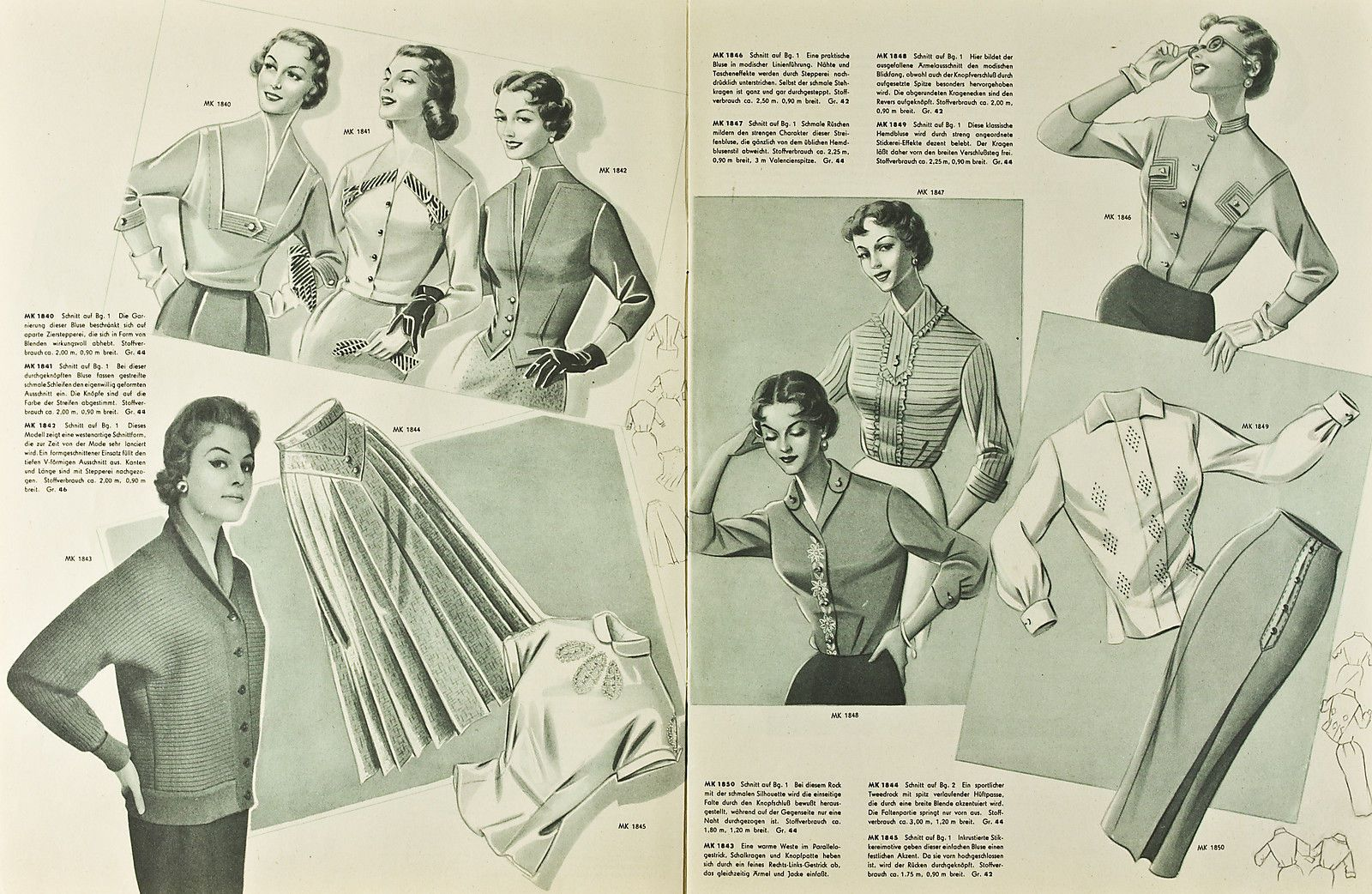Mode Kurier Spezialausgabe Blusen Und Röcke NR 12 6 | eBay