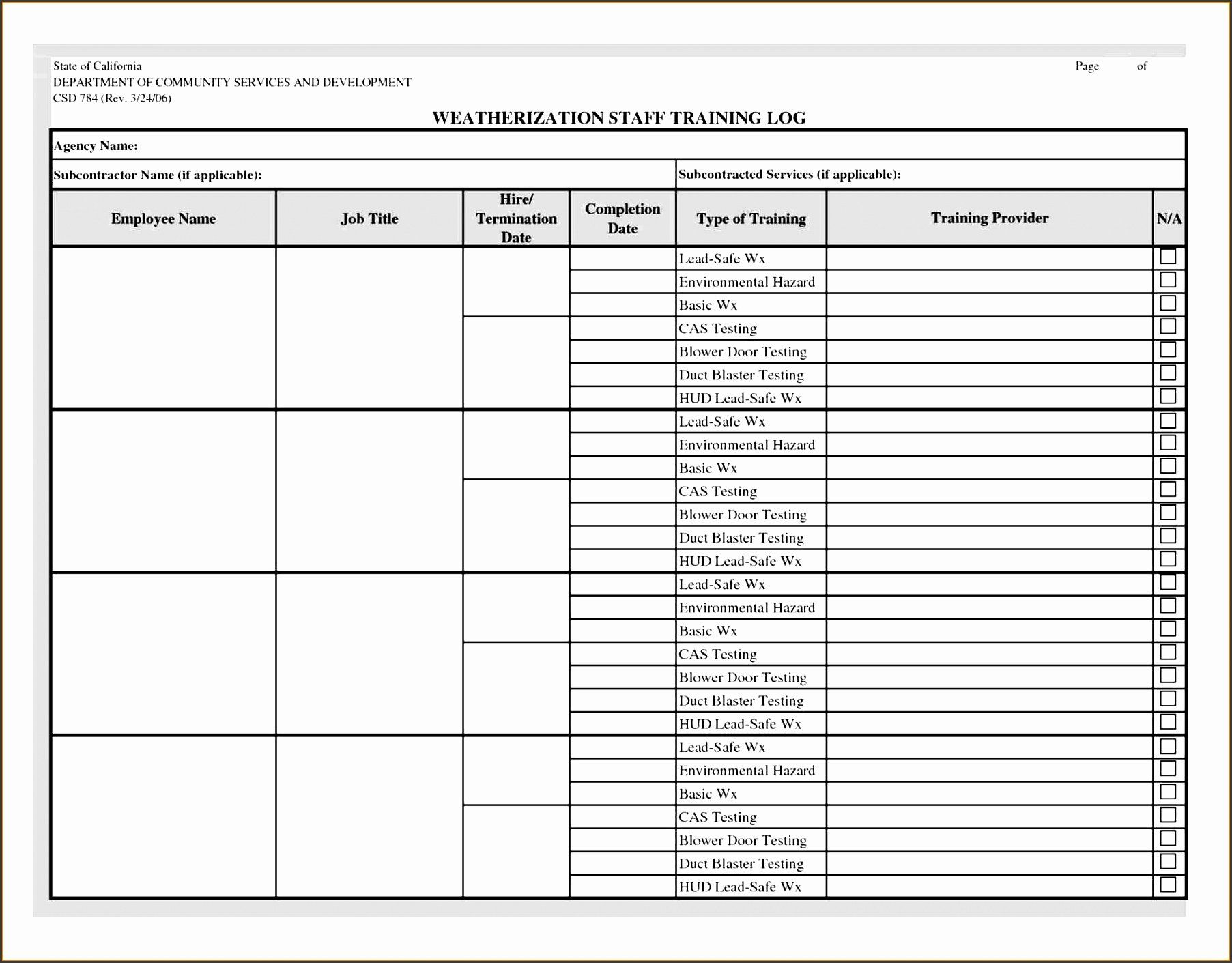 Employee Training Plan Template in 2020 Excel templates