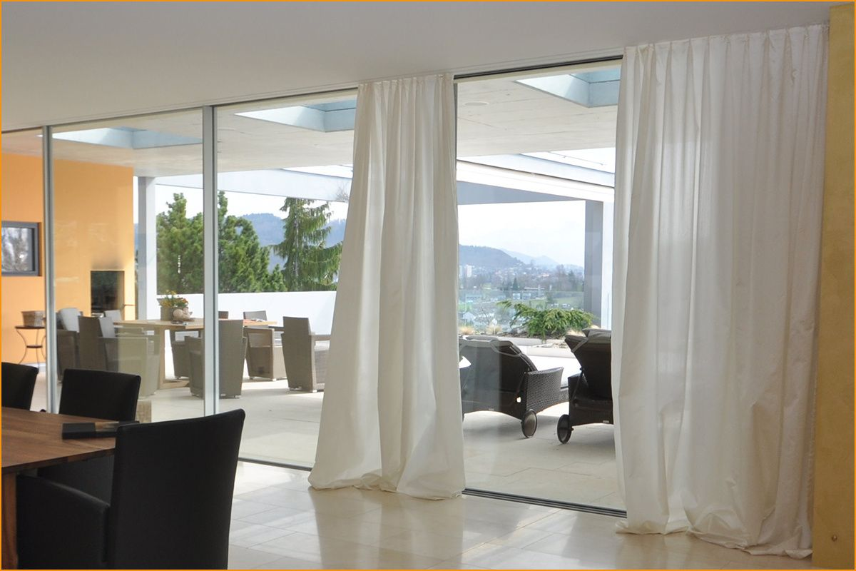 Nett Gardinen Für Große Fensterfront Fenster Galerien In   Vorhänge wohnzimmer, Vorhänge modern ...