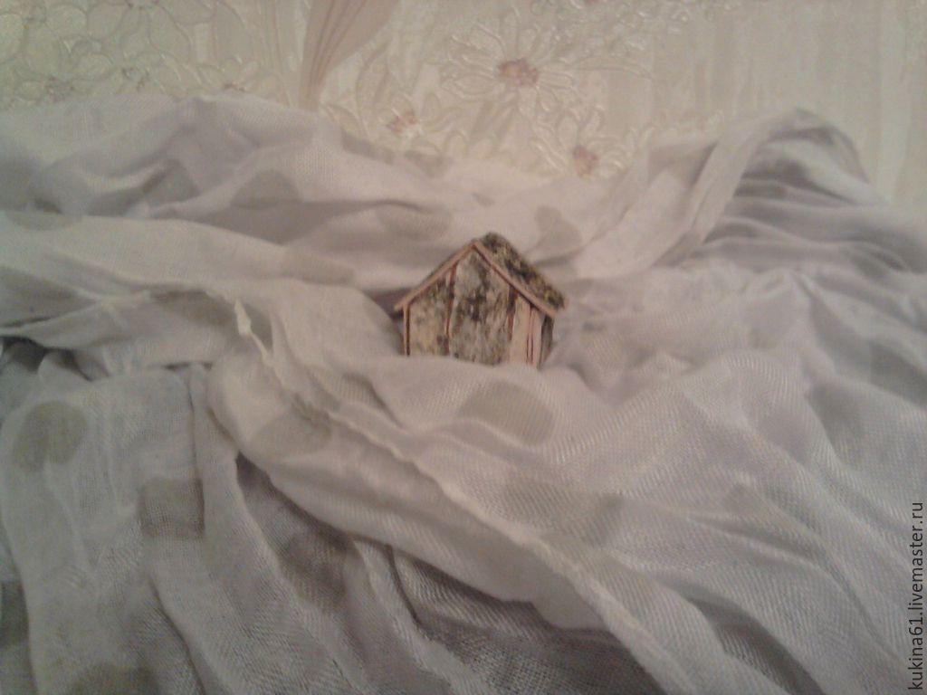 Купить домик - белый, домик, сувенир, сувениры ручной работы, композиция, миниатюра, береста