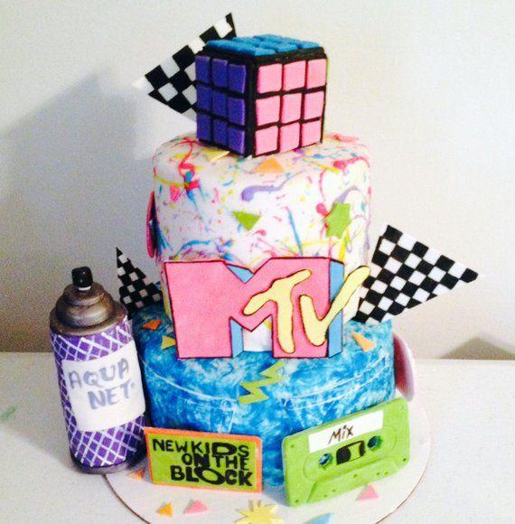 80s Cake Topper Kit