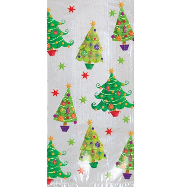 Christmas Tree Small Cello Bags 20ct