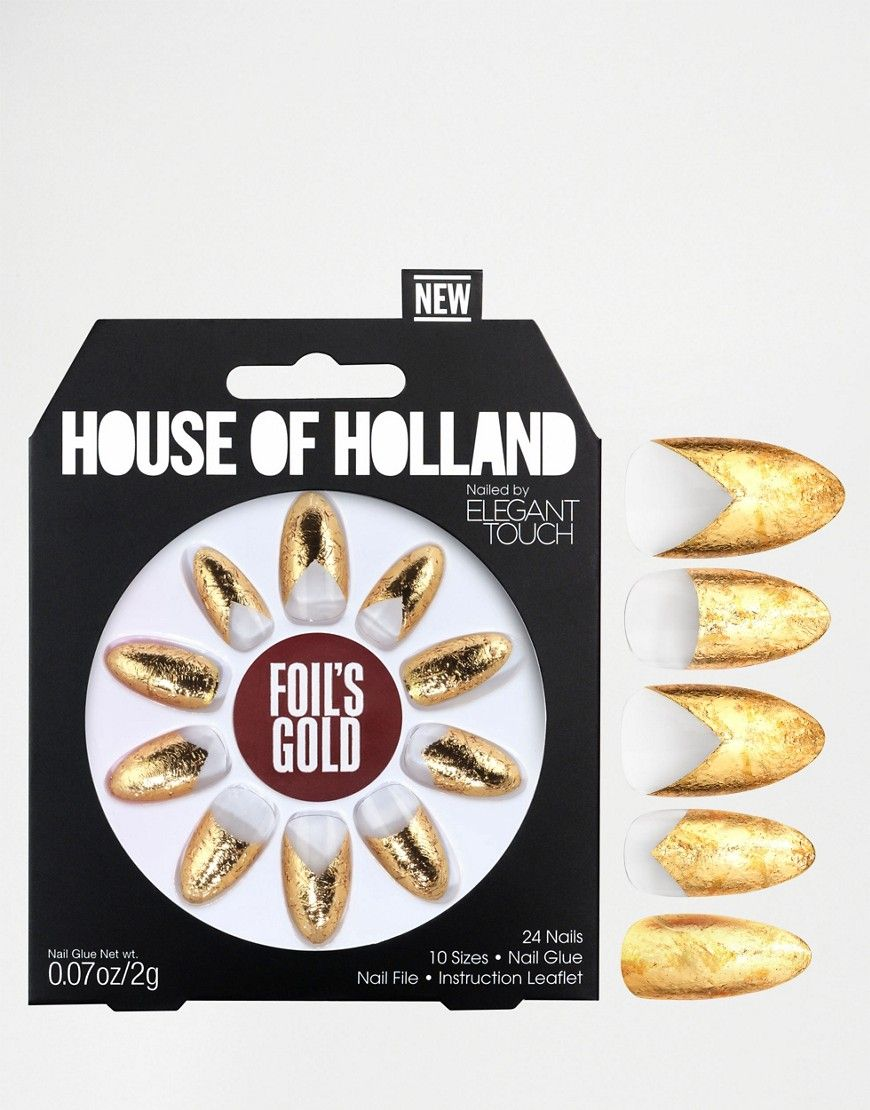 House Of Holland Nails By Elegant Touch - Foils Gold