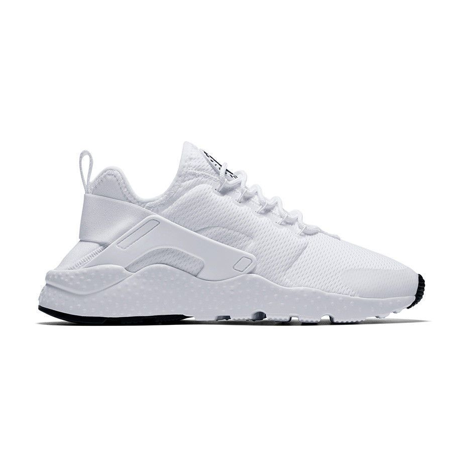 3dda7b820220 NIKE AIR HUARACHE RUN ULTRA 819151 102 TRIPLE ALL WHITE BLACK MESH WOMENS   83.0  womens  nike  sneakers