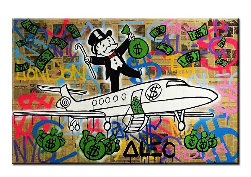 Alec Monopoly HD Print Oil Painting Home Decor on Canvas Monopoly Hand Out Eyes
