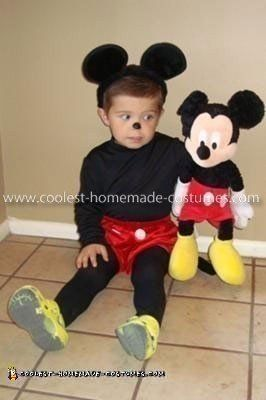Coolest Homemade Mickey Mouse Costume