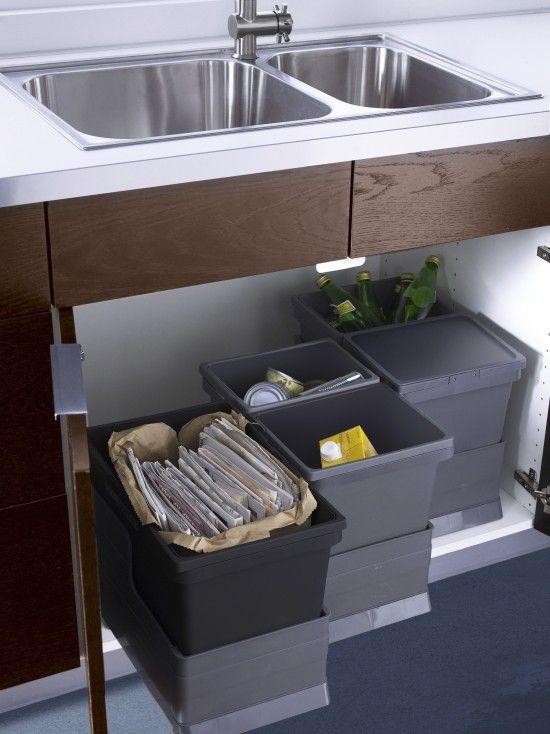 Waste Bins In Kitchen Design Ideas Pictures Remodel And Decor Keuken Ontwerp Keuken Indeling Keuken Vuilnisbakken