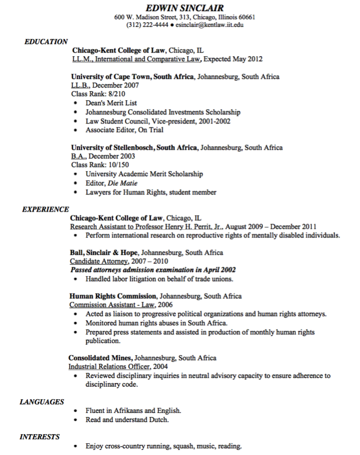 Sample Candidate Attorney Resume  HttpExampleresumecvOrg