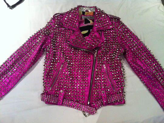 Pink Studded Jacket - My Jacket