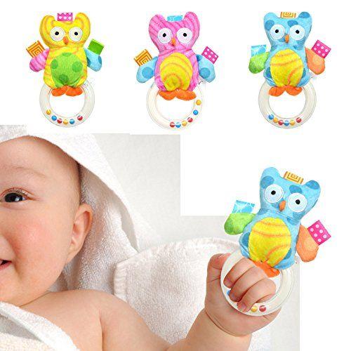 CHIC Animal Handbells Musical Developmental Toy Bed Bells Baby Soft Toys Rattle *** For more information, visit image link.