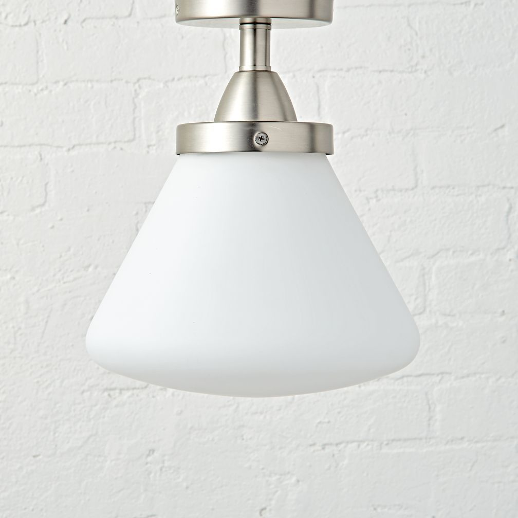 Shop Industrial Flush Mount Ceiling Light Designed In A Clean Style Meant To Match Nearly Flush Mount Ceiling Lights Ceiling Lights Semi Flush Ceiling Lights