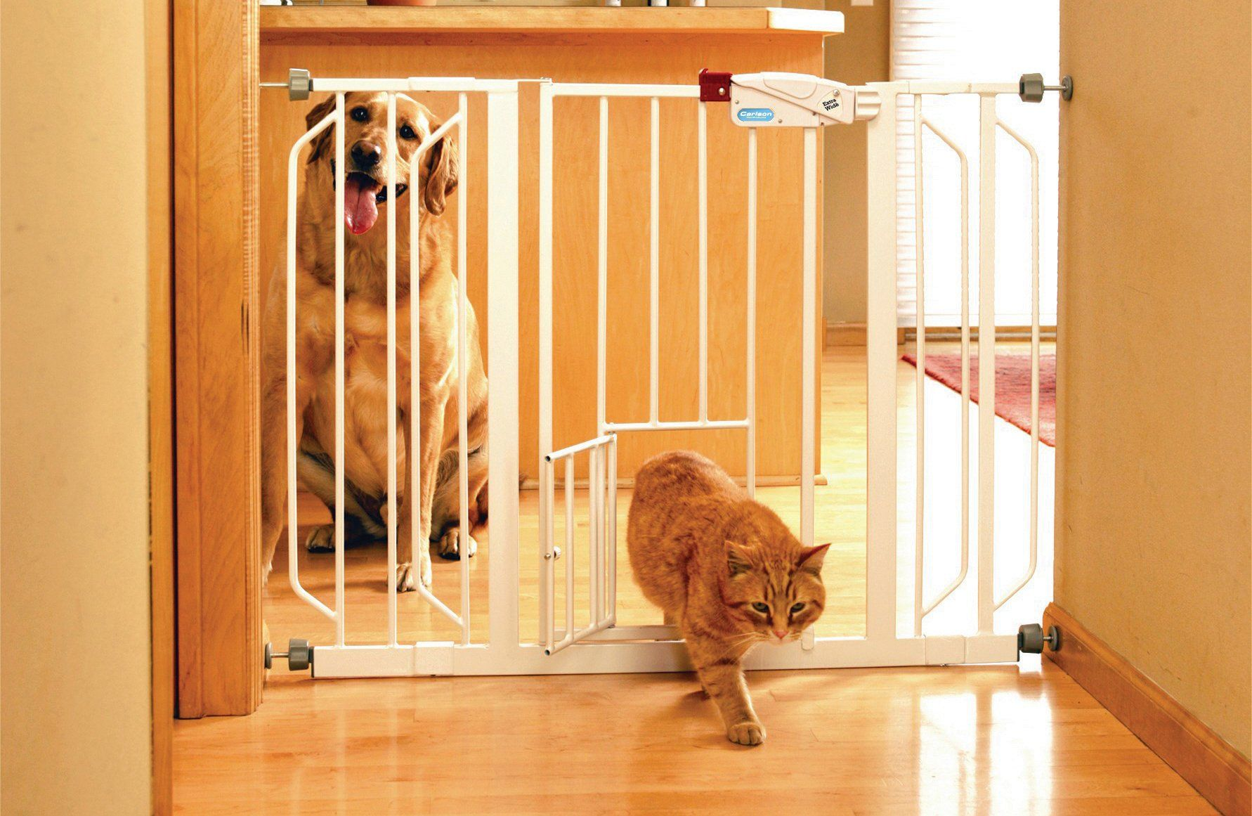 Carlson Pet Products Extra Wide Walk thru Pet Gate With Pet Door
