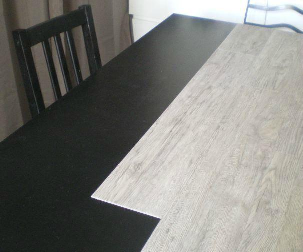 relooker un plateau de table avec des lames de parquet ...