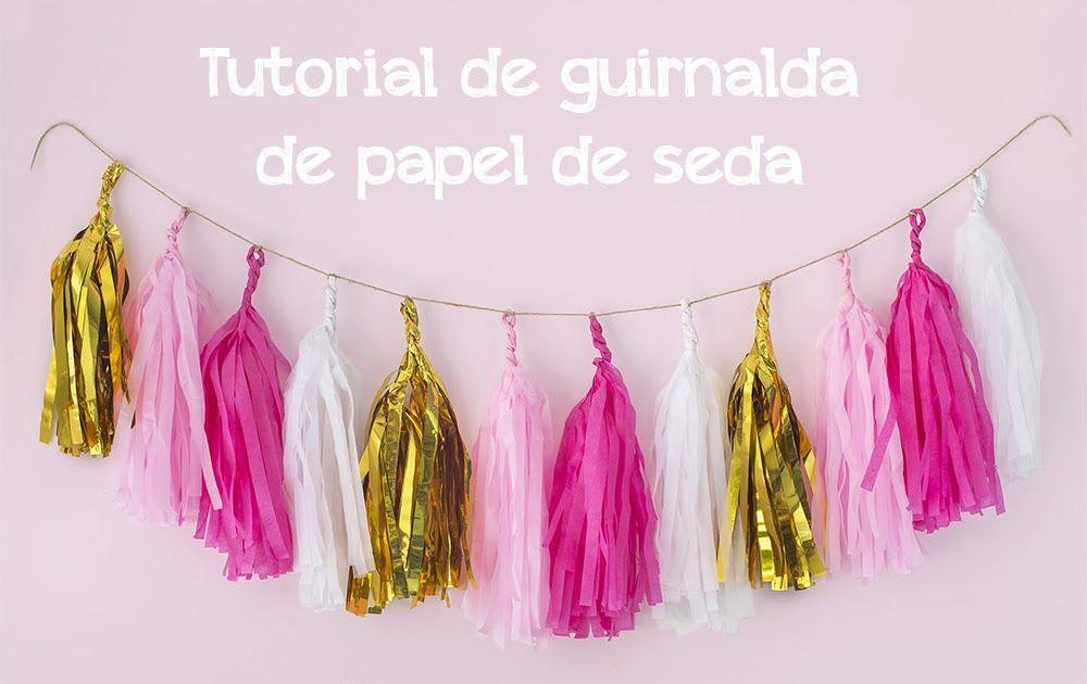 Cómo hacer una guirnalda de papel de seda tassel garland diy