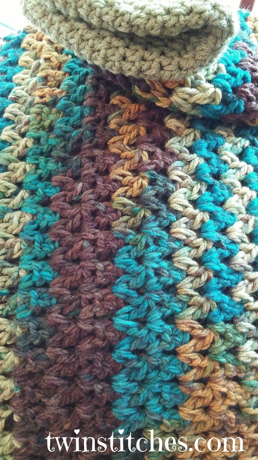 Tw-In Stitches: Sedona Wobbly Stripes Blanket - Free Pattern | Tw-In ...