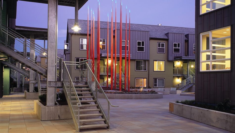 Sustainable Student housing designed by Mithun, for