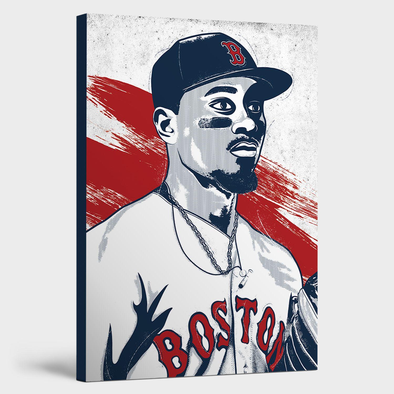 Mookie Betts Canvas Print Mookie Betts Red Sox Wall Art