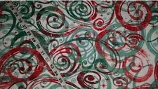 """Christmas Flannel fabric swirl red green quilt sewing material 35"""" x 43"""" remnant #cottonquiltfabric #flannelquiltfabric #cottonsewingfabric #flannelsewingfabric #fabricbytheyard #cottonfabricprint #quiltersfabric #fabricholic #ilovequilting #ilovesewing #ebay"""