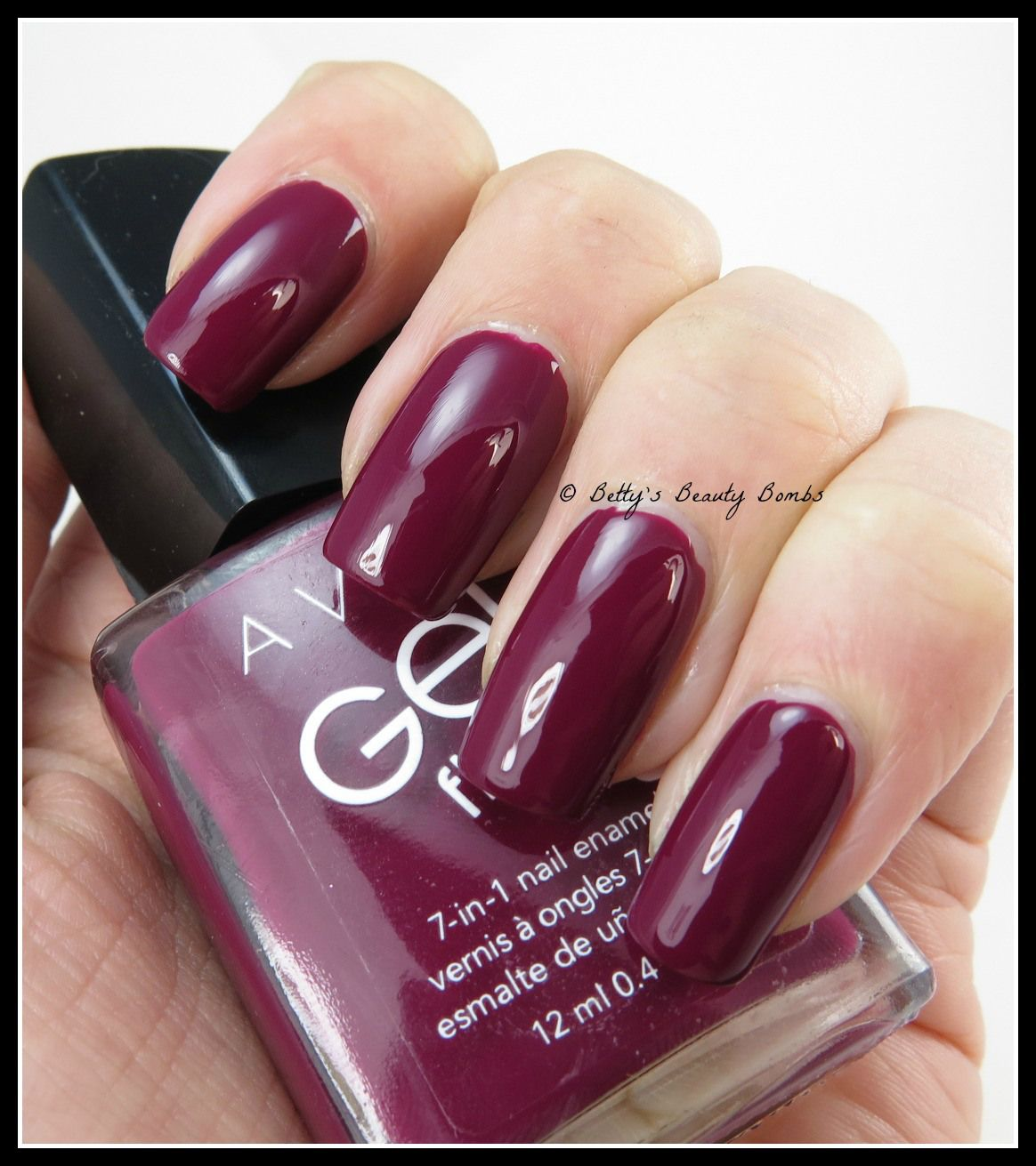 Avon Gel Nail Polish Reviews Very Berry Is From The Finish Collection This
