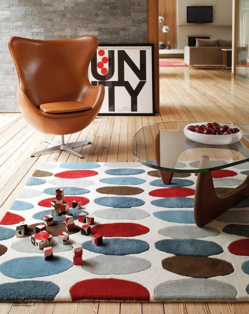 Teppich Wohnzimmer Carpet modern Design MATRIX SOFIA KREIS RUG ...