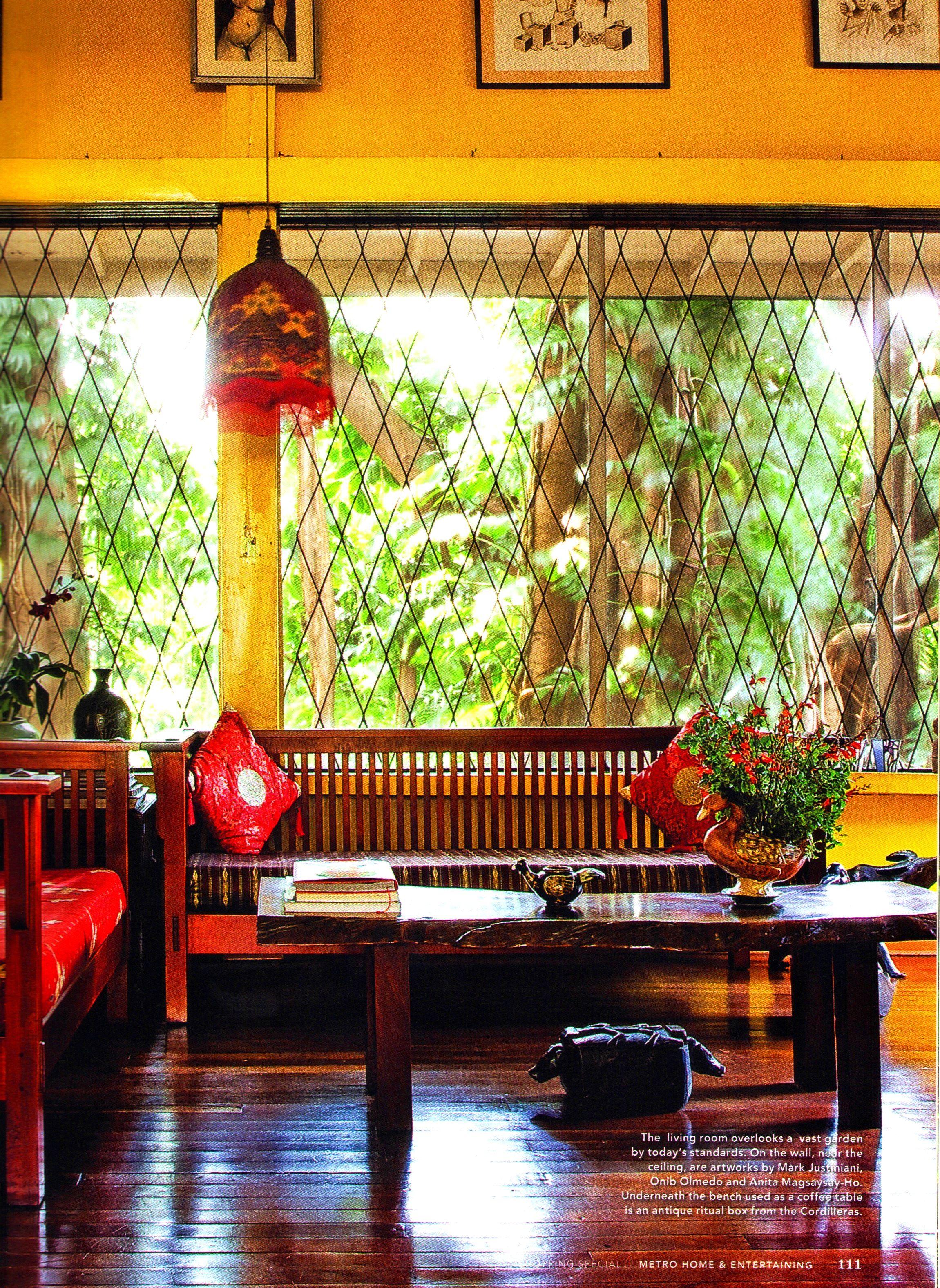 Filipino Home Tropical Interior Garden Decor Design Asian