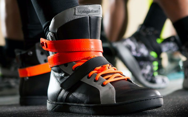7ff891e45bbff Men's Black/Grey/Orange High Top Gym Sneaker Image 1 | Men's high ...
