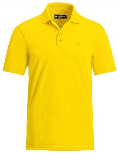 Loudmouth golf mens polo essential lemon chrome yellow for Yellow golf polo shirts