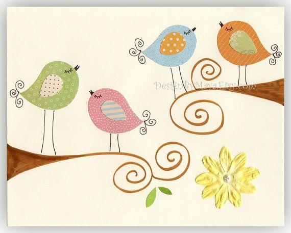 Nursery Bird Decor Baby Tweet