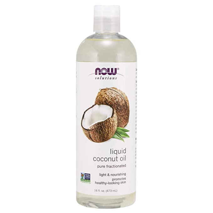Amazon Com Now Solutions Liquid Coconut Oil Light And Nourishing Promotes Healthy Looking Skin And Liquid Coconut Oil Best Coconut Oil Coconut Oil For Skin