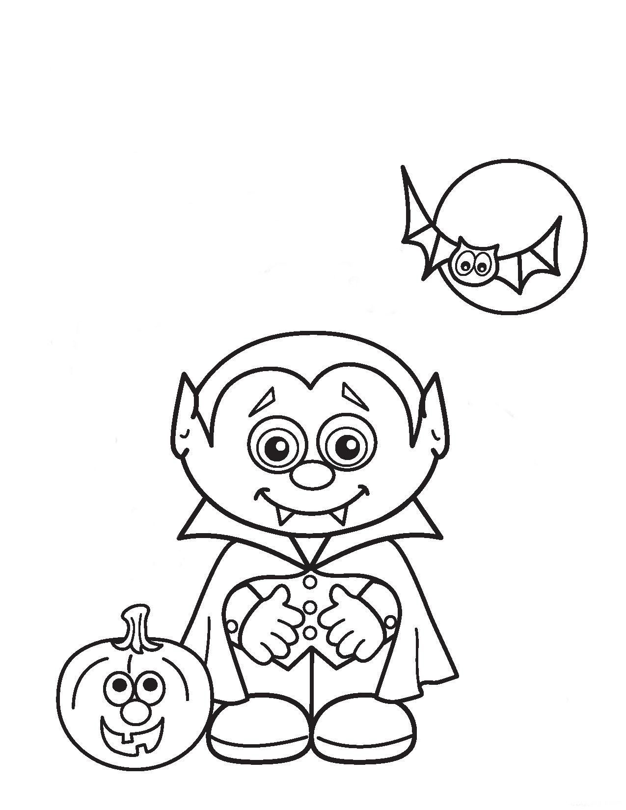 Resultado De Imagen Para Dibujos Para Colorear De Vampiros Animados Halloween Para Colorear Dibujos De Halloween Halloween Preescolar