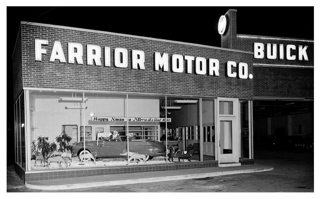 Farrior Motor Co., Buick Dealership Buick, Garage, Car